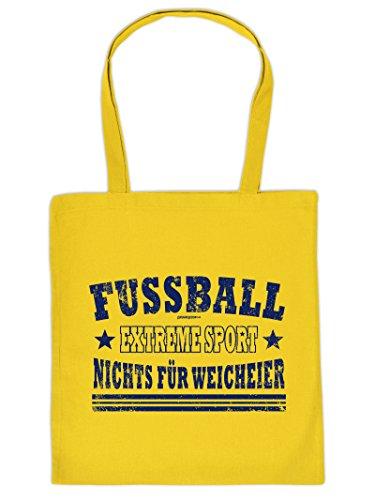 FUSSBALL -Tote Bag Henkeltasche Beutel mit Aufdruck. Tragetasche, Must-have, Stofftasche. Geschenkidee