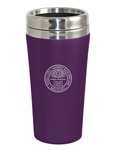 Amherst College Double Walled Travel Tumbler, Purple - Design 1