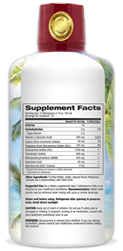 Joint Complete Premium- Liquid Joint Supplement w/Glucosamine, Chondroitin, MSM, Hyaluronic Acid – for Bone, Joint Health, Joint Pain Relief - 96% Max Absorption– 32oz, 32 serv by Tropical Oasis (Image #2)