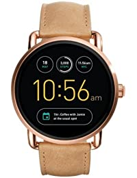 Q Wander Gen 2 Light Brown Leather Touchscreen Smartwatch FTW2102