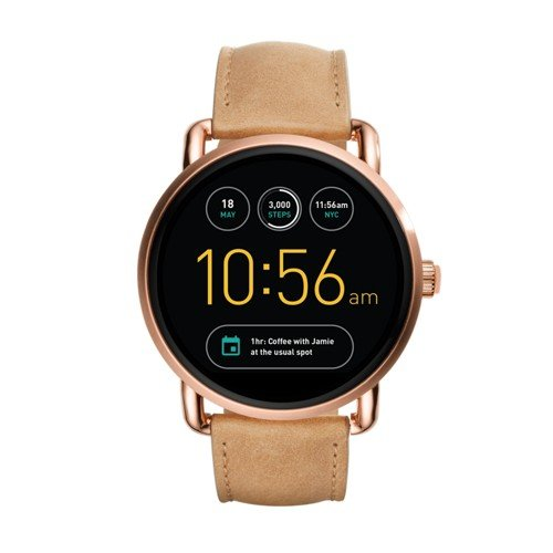 - Fossil Q Wander Gen 2 Light Brown Leather Touchscreen Smartwatch FTW2102