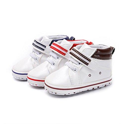Infant Kleinkind Baby Krabbelschuhe Schuhe Soft 18 0 Unisex Prewalker Sneakers Rosa Monat YYF Sohle Schuhe PU Jungen 1dwBF1