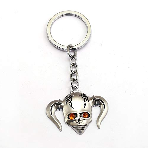 Mct12-12pcs/lot BLEACH Keychain Kurosaki ichigo Inoue Orihime Ishida Uryuu Key Ring Metal Skull Chaveiro Key Chain Anime Jewelry