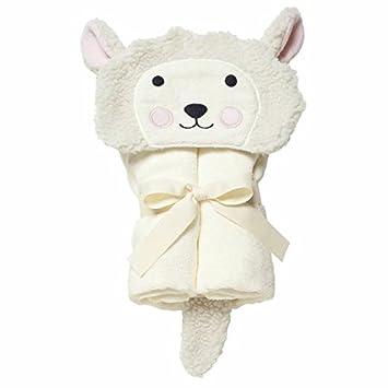 Amazon Com Elegant Baby Bath Wrap Soft White Lambie Baby Bath