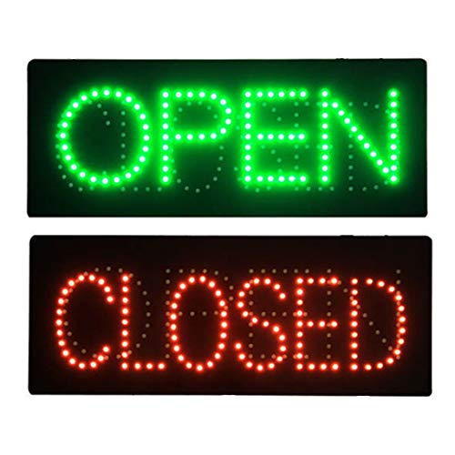 LED Nails Spa Pedicure Open Closed 2 in 1 Light Sign Super Bright Electric Advertising Message Display Board for Beauty Salon Business Shop Store Window Bedroom 32 x 13 inches