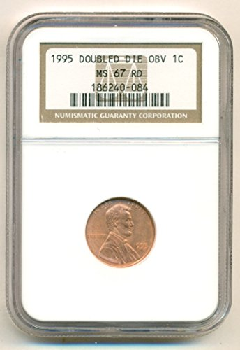 1995 Lincoln Memorial Double Die Obverse Cent MS67 RD NGC (Cent Double Die)