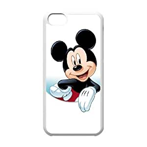 iPhone 5c Cell Phone Case White Disney Mickey Mouse Minnie Mouse WQ7514612