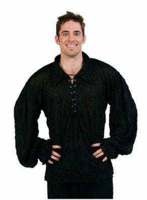 [Renaissance Shirt Black-One Size] (Bk King Costume)