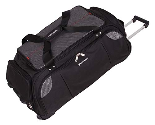 Lightweight Large Roller Bag Holdall with Wheels by Pierre Cardin   Durable Stress Tested Skate Wheels   95L Capacity   Trolley & Grab Carry Options   Travel Wheeled Duffle Bag CL769 (Large 30')