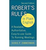 img - for Robert's Rules in Plain EnglishROBERT'S RULES IN PLAIN ENGLISH by Zimmerman, Doris P. (Author) on Sep-20-2005 Paperback book / textbook / text book