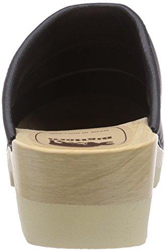 Gevavi 4700 BIGHORN flexibler - Zuecos de piel mujer negro - Schwarz (schwarz(schwarz) 00)