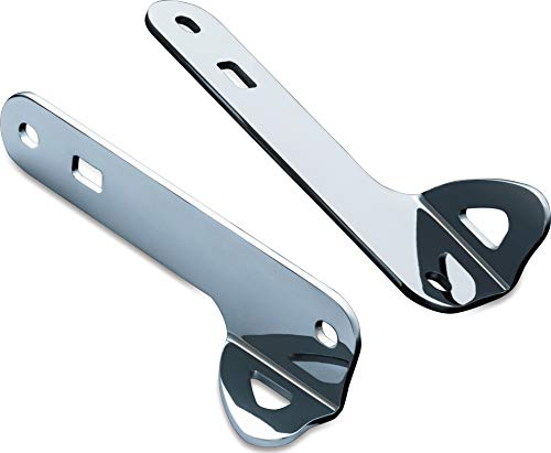 Kuryakyn 949 Motorcycle Accessory: Front Fork Teardrop Tie-Down Brackets and Hardware Kit for 2014-19 Harley-Davidson Motorcycles, Chrome, 1 Pair