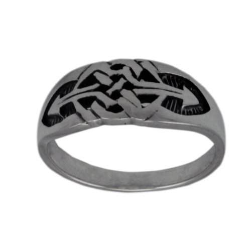 WithLoveSilver Solid Sterling Silver 925 Engraved Arrow Celtic Design Ring For Men (6) by WithLoveSilver