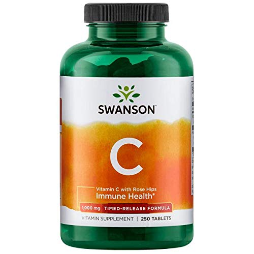 Swanson Vitamin C with Rose Hips 1,000 Milligrams 250 Tabs