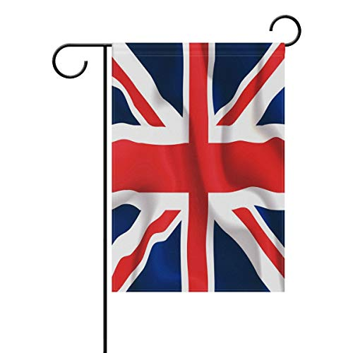 Halloween Party London Under 18 (UK London Britian British Union Jack Garden Flag 12 X 18 Large Inches, Double Sided Outdoor Yard Yall Garden Flag for Wedding Party House Home)