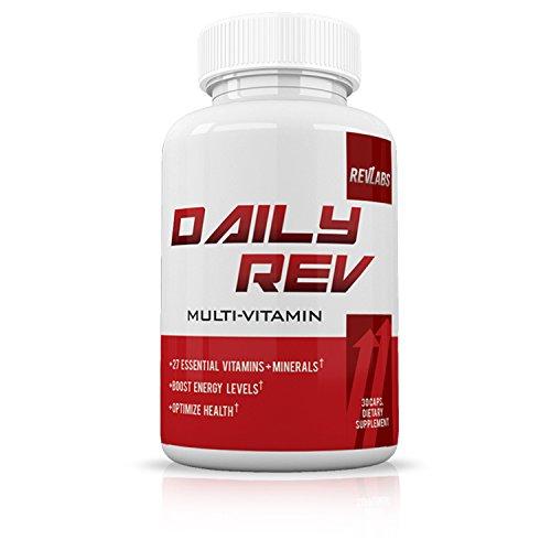 RevLabs - Daily Rev Multi Vitamin - 27 Essential Vitamins & Minerals - Boost Energy - Optimize Health - 30 Caps