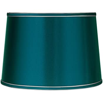 Amazon mainstays lamp shade teal home kitchen sydnee satin teal blue drum lamp shade 14x16x11 spider aloadofball Image collections