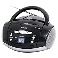 Rádio com CD e MP3 Bivolt, Philco, Preto