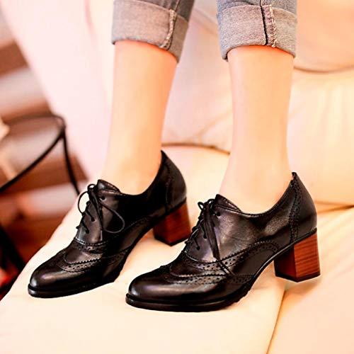 Mode Vintage Sanfahion À Noir Bottes Casual Chic Femme Martin Boho Lacets Britannique Bottines Chaussures gv7qfgB