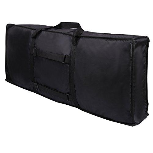CAHAYA Keyboard Gig Bag 61 Keys Oxford Cloth with Cushion for Piano Keyboard