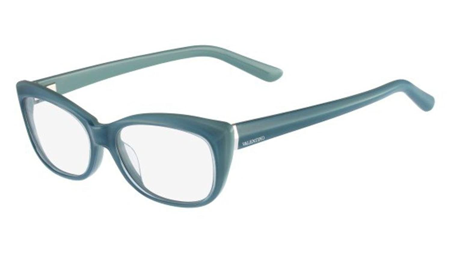 VALENTINO Eyeglasses V2661 413 Azure 51MM at Amazon Men\'s Clothing ...