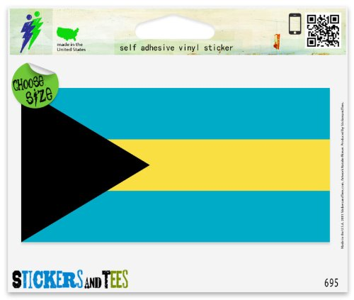 Bahamas Flag Vinyl Car Bumper Window Sticker 3