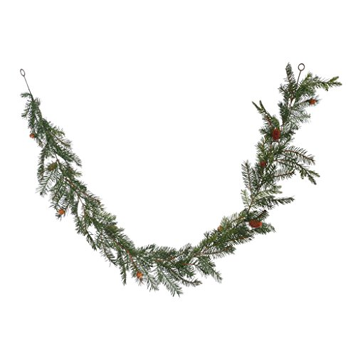 Vickerman Unlit Douglas Fir Artificial Garland Artificial Pine Cones, 6