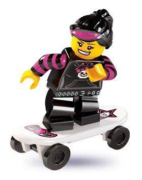 (LEGO 8827 Minifigures Series 6 - Minifigure Skater Girl x1 Loose)