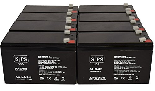 Digital Security BD 712 12V, 9Ah Lead Acid Replacement Battery- SPS Brand (8 Pack)