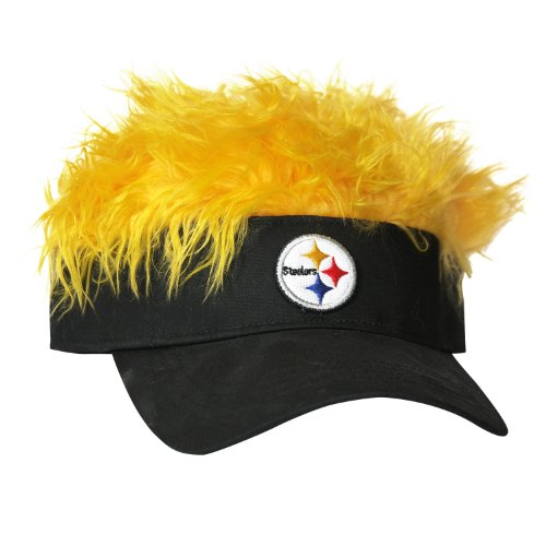 The Northwest Company NFL Pittsburgh Steelers Flair Hair Adjustable Visor, Black
