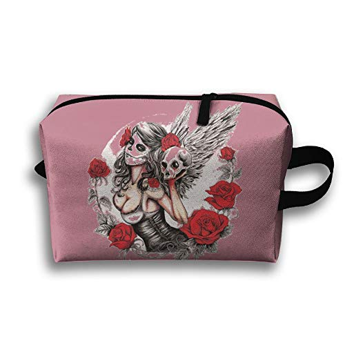 Travelling Jewelry Bags Fallen Skull Angel Cosmetic Case