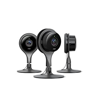 Nest Cam Indoor Security Camera 3 Pack, Works with Amazon Alexa