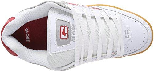 De Chaussures white Homme gum Skateboard Tilt Globe Blanc nAfU7w