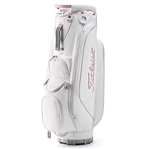 (Titleist Women's Golf Bags (Cart Bags) (White Bag, White/Pink, TB9CTWTK))