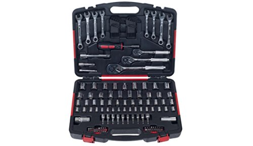 Auto Mechanic Tools Set 135 Piece with Carrying Case. Box w/ Hand Tool Kit Includes – Screwdriver, Wrench, Socket, and Ratchet (Great for the Home, Garage, or Car). Complete Professional Set New