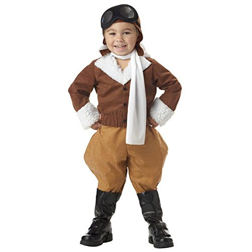 [Toddler Pilot Costume (Size: 2T-4T)] (Amelia Earhart Costume Ideas)