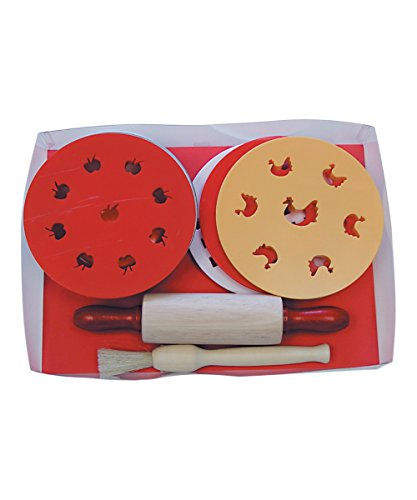 R&M International 2258 Individual Pie Baking Set with 4 Pans, Rolling Pin, Brush, 4 Pie Top Cutters