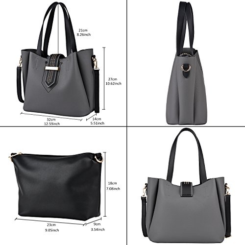 Shoulder for Handbags COOFIT Handbags Women Set Purse Pcs Crossbody Handbag with Bag Clutch Womens 2 Tote Handbags AOq5Zxwwd