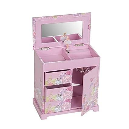 06548bbed858 Mele & Co. Pearl Girl's Musical Ballerina Jewelry Box (Bird & Blooms Design)