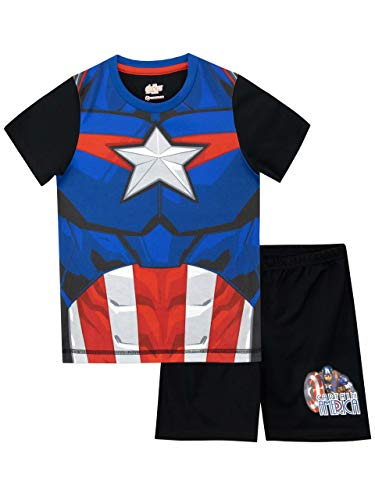 Marvel Boys' Captain America Pajamas Size 6 Black