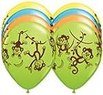 TEN 10 11 latex MONKEY GO BANANAS Happy Birthday PARTY Balloons Decorations Supplies