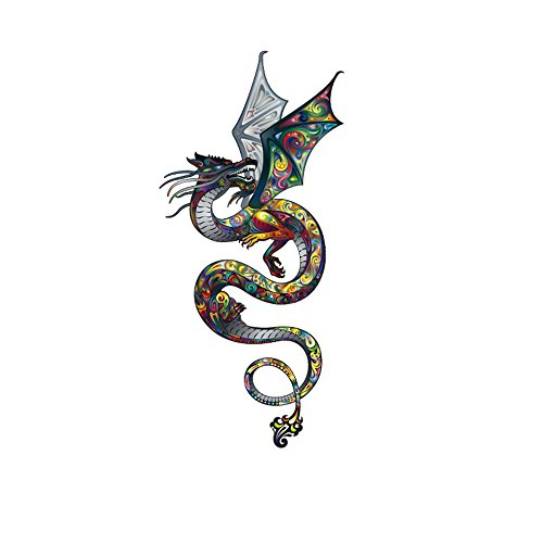 Toonol Colored Dragon Iron On Patch 29X15cm DIY T-Shirt Jacket Grade-A Thermal Transfer Stickers