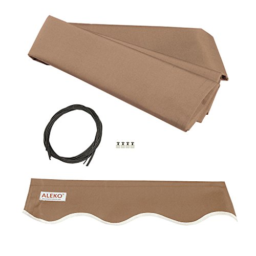 ALEKO FAB10X8SAND31 Awning Fabric Replacement for Retractable Awning, 10' by 8', Sand (Retractable Umbrella Awning)