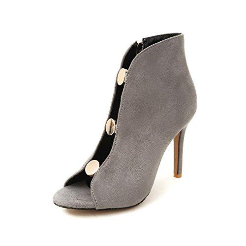 signore sandali dimensioni tacchi 41 fighi super alti grandi stivali gray i stivali fighi sexy di FwBqFTrR