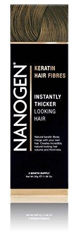 Nanogen Keratin Thickening Hair Fibres 30g,  Light Brown