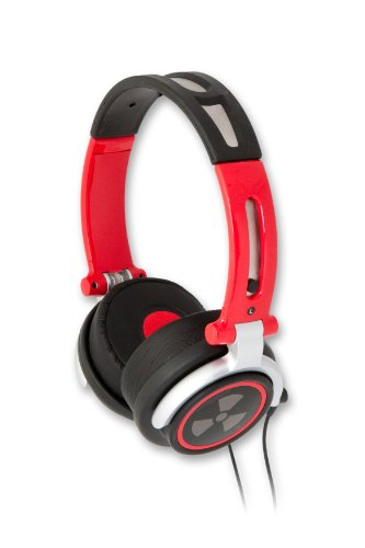 EarPollution CS40 Headphones - Red(EP-CS40-RED) (Discontinued by Manufacturer)