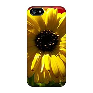 Fashion Protective Yellow Calendula Pot Marigold Case Cover For Iphone 5/5s