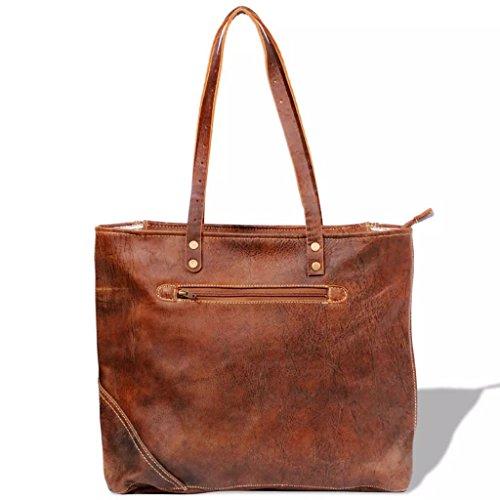 Semplice E Borsa Colore Shopper Marrone Vera Marrone Pelle In Materiale Bello Xingshuoonline 80d6q0