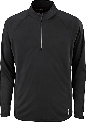 NE MEN RADAR PRFMCE 1/2 ZIP LS (BLACK 703) ()