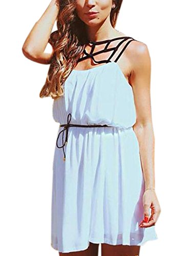 Blooming Jelly Womens Sleeveless Shoulder